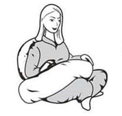 روش مارپیچ دور بدن بالشت بارداری اسنوگل